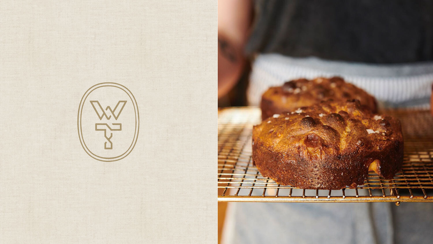 Winslow's Table logo and baked good