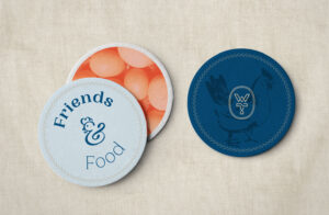 """Winslow's Table Coasters """"Friends & Food"""""""