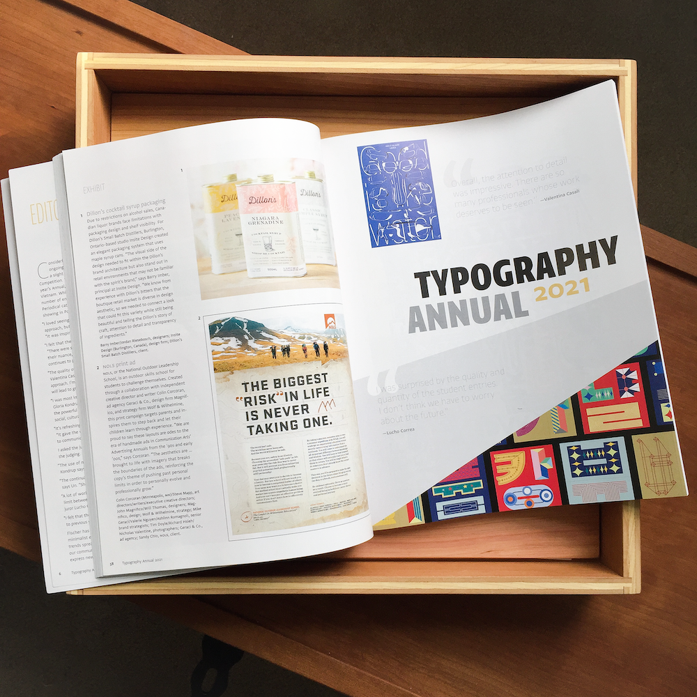 CA Typography Annual Interior Spread
