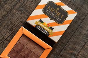 Kizmet Blood Orange Chocolate Bar Close-up